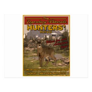 vintage hunting sign postcard