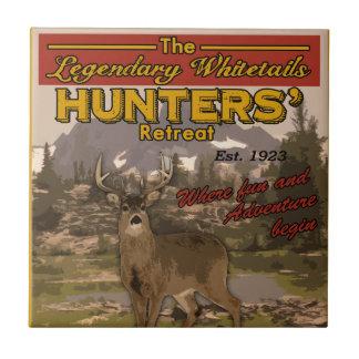 vintage hunting sign tile