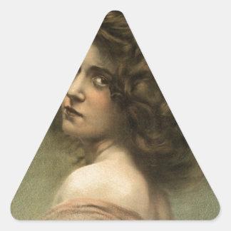 vintage-hurly-burly-poster. calcomanía triangulo personalizadas