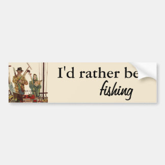 Vintage Husband and Wife Gardening Project Bumper Sticker