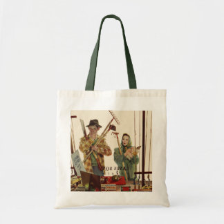 Vintage Husband and Wife with Gardening Tools Tote Bag