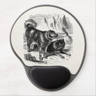 Vintage Husky Sled Dog 1800s Huskies Alaskan Dogs Gel Mouse Pad