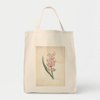 Vintage Hyacinthus by Redoute - Grocery Bags