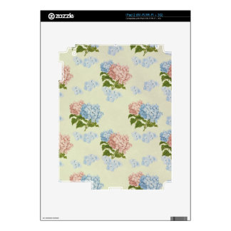 Vintage Hydrangea Floral Design Skin For The iPad 2