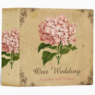 Vintage Hydrangea Wedding Binder
