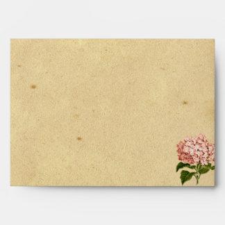 Vintage Hydrangea Wedding Envelope