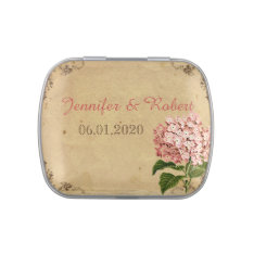 Vintage Hydrangea Wedding Tins Jelly Belly Candy Tins at Zazzle