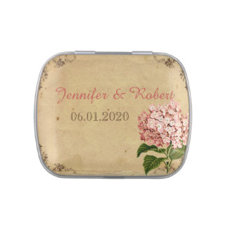 coral wedding mints candy containers jars tins zazzle