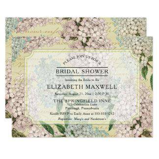 VIntage Hydrangeas | French Ephemera Bridal Shower Card