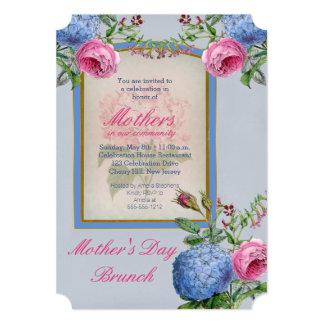 Vintage Hydrangeas Pink | Blue Mother's Day Brunch Card