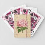 Vintage Hydrangeas Playing Cards