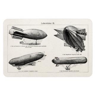 Vintage Hydrogen Blimps Zeppelins Balloons Retro Rectangular Photo Magnet
