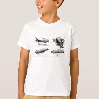 Vintage Hydrogen Blimps Zeppelins Balloons Retro T-Shirt