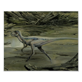 Vintage Hypsilophodon Dinosaur, Cretaceous Period Poster