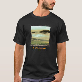 "Vintage - ""I Believe"" UFO T-shirt - Black"