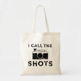 Vintage I call the Shots Camera Graphic Tote Bag