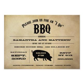 "Vintage ""I Do"" BBQ Rehearsal Dinner Invite 5"" X 7"" Invitation Card"