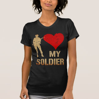 Vintage I Heart My Soldier T-Shirt