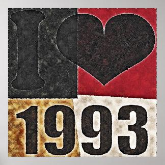 Vintage I love 1993 - Pop Art Poster