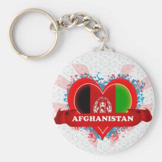 Vintage I Love Afghanistan Key Chain