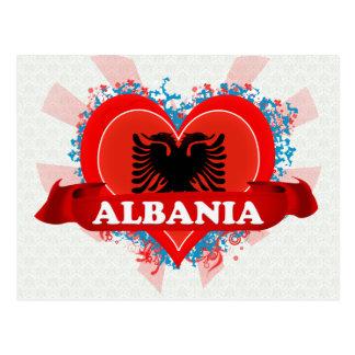 Vintage I Love Albania Postcard