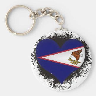 Vintage I Love American Samoa Keychain
