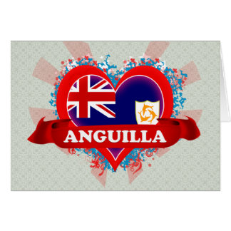 Vintage I Love Anguilla Greeting Cards
