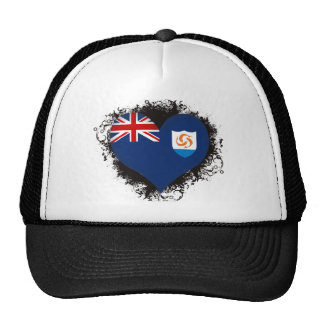 Vintage I Love Anguilla Mesh Hats