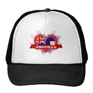 Vintage I Love Anguilla Hats