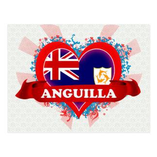 Vintage I Love Anguilla Postcard