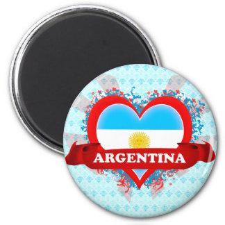Vintage I Love Argentina 2 Inch Round Magnet