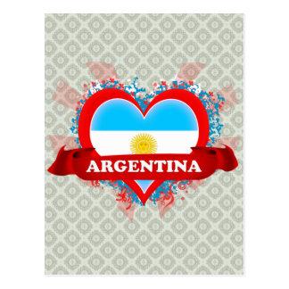 Vintage I Love Argentina Postcard