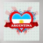 Vintage I Love Argentina Print