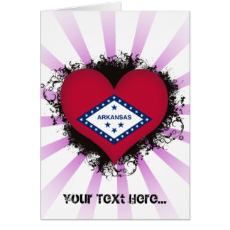 Vintage I Love Arkansas Greeting Card