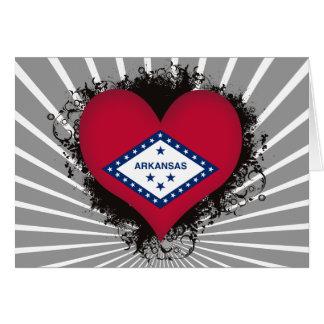 Vintage I Love Arkansas Card