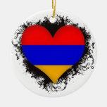 Vintage I Love Armenia Ornaments
