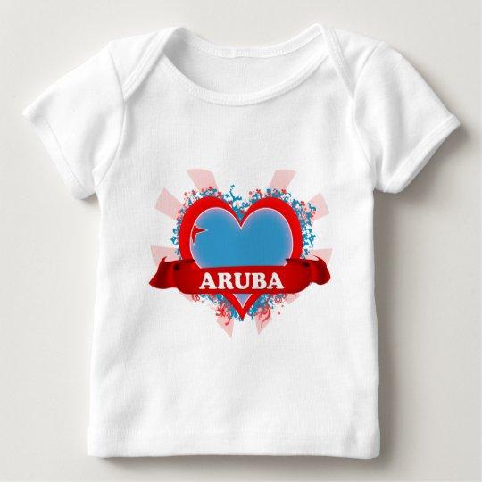 Vintage I Love Aruba Baby T-Shirt