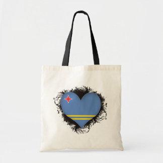 Vintage I Love Aruba Tote Bags