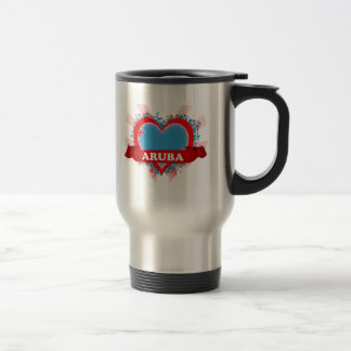 Vintage I Love Aruba Coffee Mugs