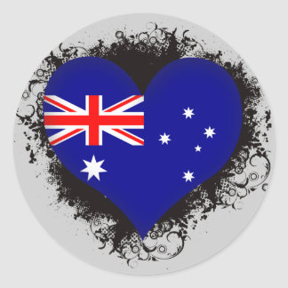 Vintage I Love Australia Classic Round Sticker