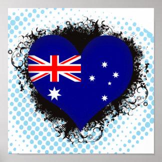 Vintage I Love Australia Poster