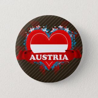 Vintage I Love Austria Pinback Button