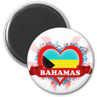 Vintage I Love Bahamas Fridge Magnets