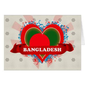 Vintage I Love Bangladesh Card
