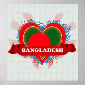 Vintage I Love Bangladesh Poster