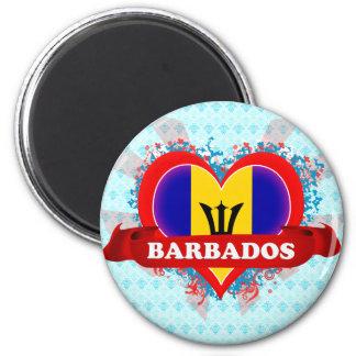 Vintage I Love Barbados Fridge Magnets