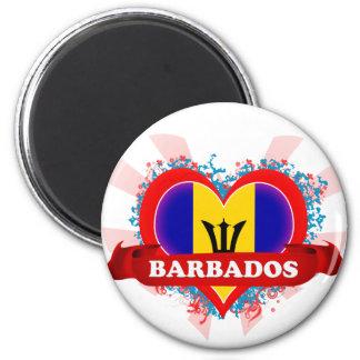 Vintage I Love Barbados Magnets