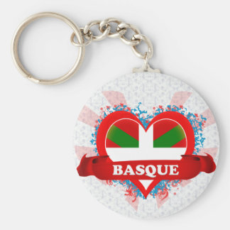 Vintage I Love Basque Keychain