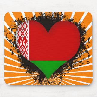 Vintage I Love Belarus Mouse Pad