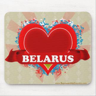 Vintage I Love Belarus Mouse Pads